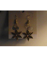 Handcrafted gold tone holiday Christmas snowfla... - $5.99