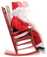 Santa Claus Animated Rocking Chair Life Size El... - $199.00