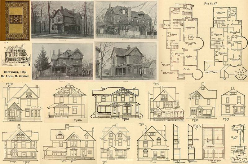 1889 Antique Victorian Houses Architect House Floor Plans CD DIY Home Carpentry - Other Books