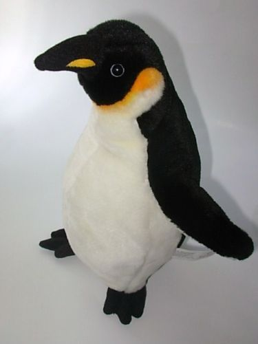 "2008 Planet Earth Realistic Plush Penguin 13"" Toy"