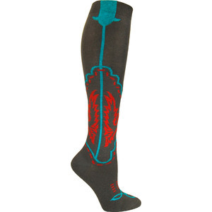 Ozone Womens Cowboy Boots Knee Hi Sock Sexy New Grey Red Turquoise