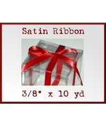 Red Satin Single Face Polyester Ribbon 3/8 x 10yd - $2.48