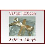 Gold Satin Single Face Polyester Ribbon 3/8 x 10yd - $2.48
