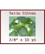 Pistachio Green Satin Single Face Polyester Rib... - $2.48