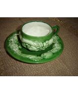Portugal Faria & Bento Hand Painted Green Cup A... - $12.15