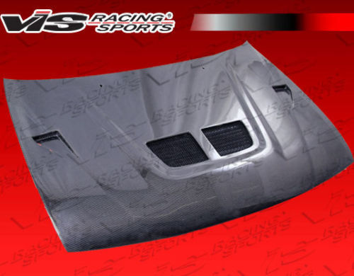 ViS Racing  95-99 Nissan 200SX/Sentra  EVO BLK Carbon Fiber Hood On Sale