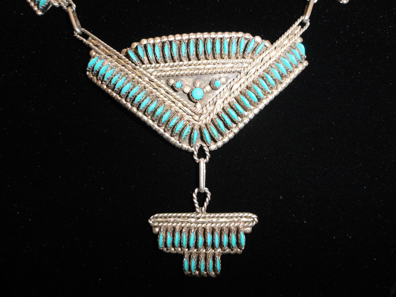 Nativeamericanzunisterlingneedlepointturquoisenecklace__2_