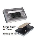 STICK ON Large LCD Display Digital Clock with C... - $2.99
