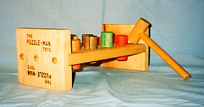 Childrens Wooden Toy Pounding Pegs Ages 1-1/2+ Non-Toxic Made in USA