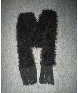 New Hand Crochet Scarf in Black with Sparkles i... - $8.00