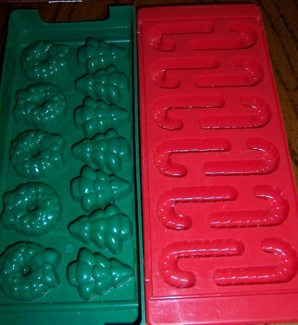 Christmas Molds (2) Ice Candy Soap Hallmark Cards
