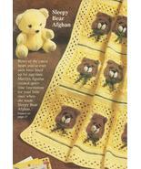 Sleepy Bears Baby Afghan Granny Squares Crochet... - £10.29 GBP