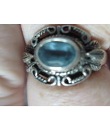 Sterling silver aquamarine ring size 6 3/4-rESERVED FOR i LOVE OLD STUFF