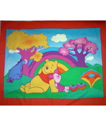 Disney POOH Rainbow Wall Quilt Fabric Panel