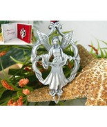 Angel Ornament Love Joy Seagull Pewter Canada 1... - $14.95