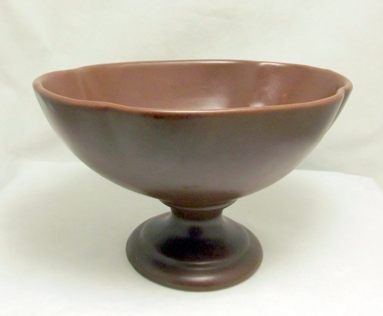 Haeger_brown_pedestal_bowl_3
