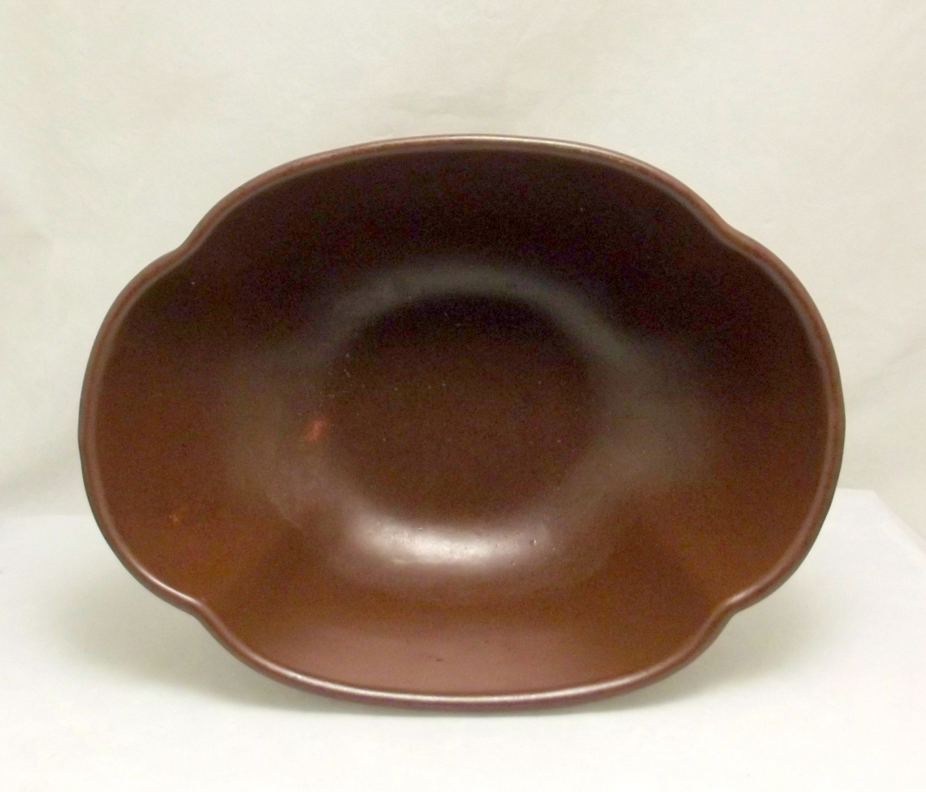 Haeger_brown_pedestal_bowl_5