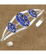 Lapis Sterling Silver Inlaid Cuff Bracelet - $216.07