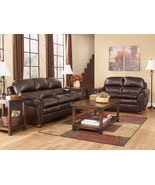 AMALFI-TRADITIONAL BROWN BONDED LEATHER SOFA CO... - $1,055.71