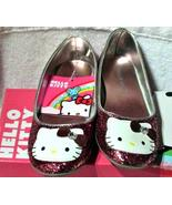 Hello Kitty Pink Glitter Shoes SZ 1 with Clear ... - $20.00