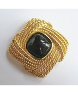 Black Sugarloaf Cabochon Brooch, by Trifari. c.... - $15.00