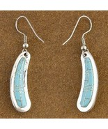 Southwest Turquoise Inlay Sterling Silver Frenc... - $79.07