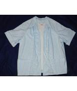 Lady Graff White Blue Striped  Size 1X Skirt an... - $14.99