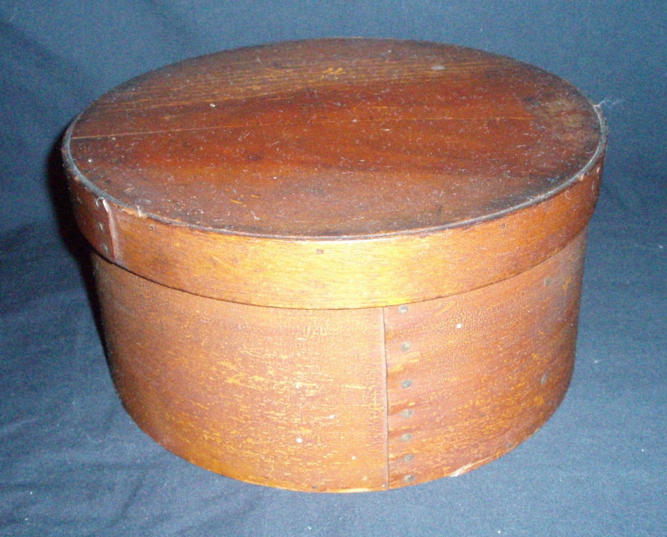 Antique signed Annett Wood Pantry Box primitive original