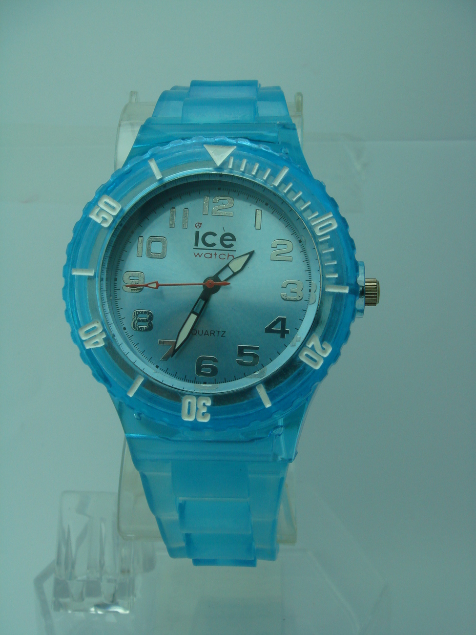 TRANSPARENT BLUE  cute Unisex wrist ICE watch  fashion jelly watch