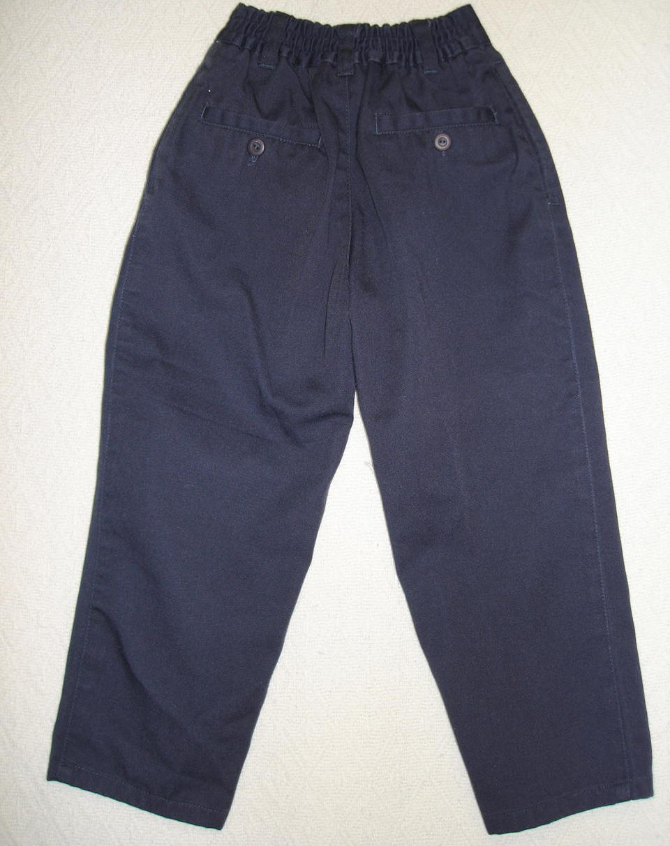Bugle Boy Dress Pants Boys Kids Casual Navy Blue Size 4 Slim