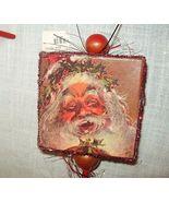 Vintage STYLE PAPER TINSEL WOOD XMAS NOISE MAKE... - $14.19