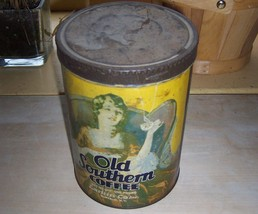 Advertising Old Southern One lb. Coffee Tin Lar... - $29.99