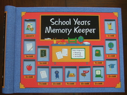 SCHOOL YEARS Memory Keeper (photo frame Book) KEEPSAKE