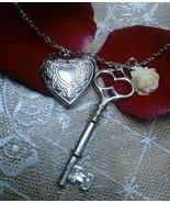 Open Heart Pendant Necklace Victoria Style --Pr... - $16.99