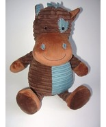 Dan Dee Plush Horse Pony Blue Brown Corduroy He... - $29.98