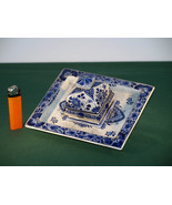 Antique Delftware Writing / Desk Set & inkwell. - $85.00