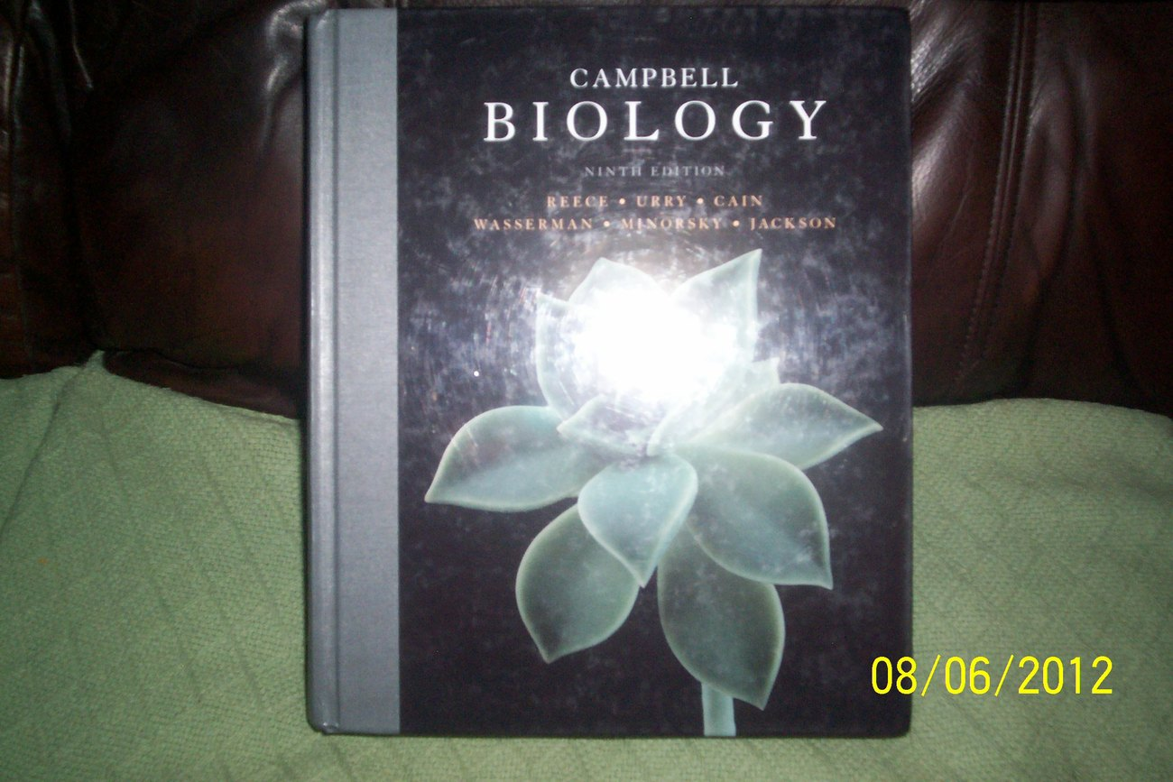 Like New Campbell Biology 9th Edition 2011