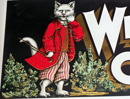 Scarce! White Cat Embossed Inner Cigar Label, 1... - $15.89
