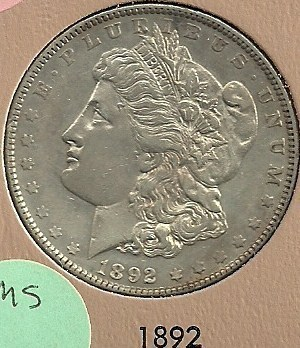 1892 Philadelphia Mint Morgan Silver Dollar