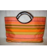 Large Nylon Tote Carry All Bag Colorful NEW - $10.35