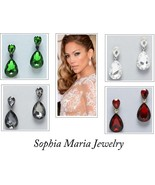 Celebrity style crystal teardrop dangle earring... - $15.99