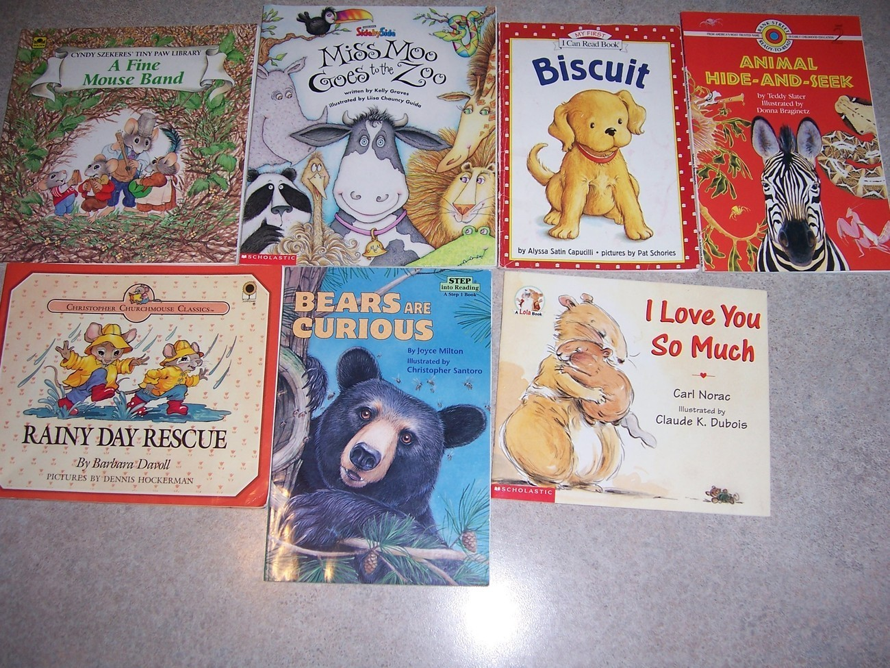 Lot of 7 assorted animal children books