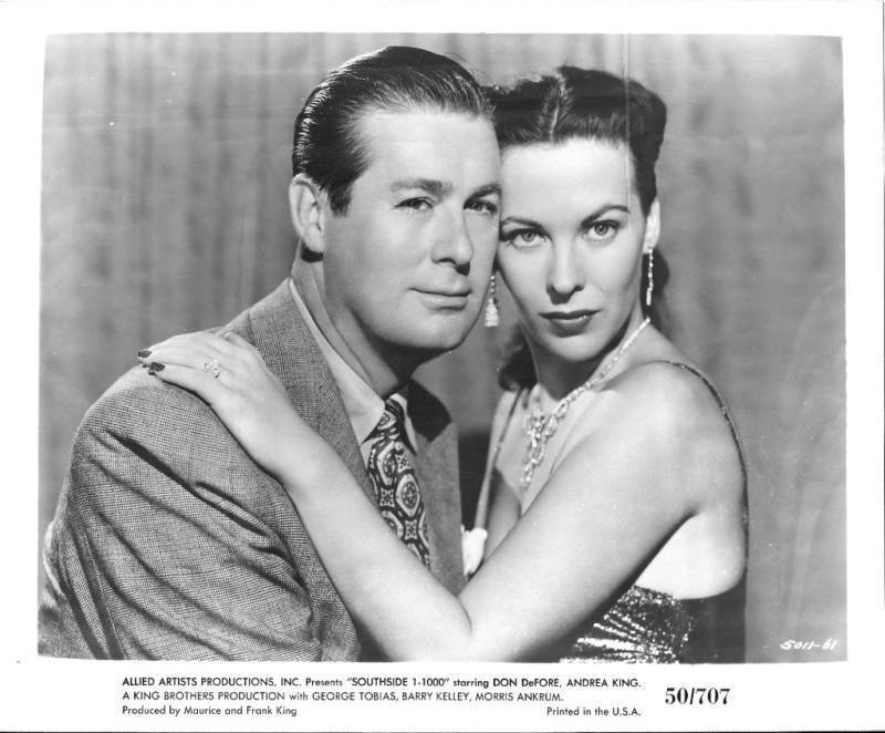 SOUTHSIDE 1-1000 * 1950 * RARE FILM NOIR PORTRAIT PHOTO