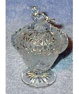 Bird Covered Crystal Dish Press Pattern Glass - $6.95
