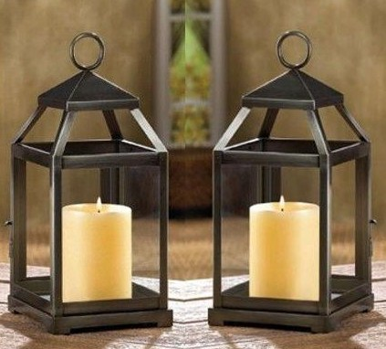 WEDDINGS 10 Rustic Silver Contemporary Candle Lanterns Centerpieces