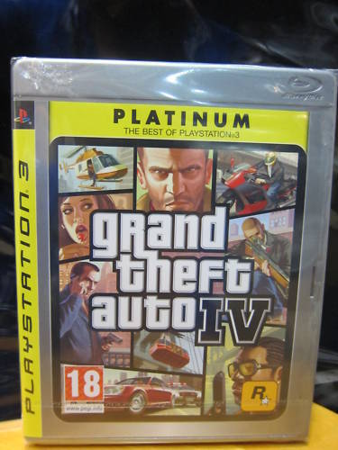 Grand Theft Auto GTA 4 IV, PS3 game