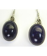 Purple Amethyst Commanding Oval Cabochons Dangl... - $67.36