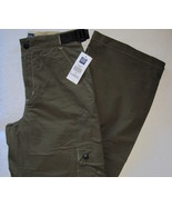 Gap Boys Cargo Pants Olive Green Size 12 Adjustable Waist New - $13.00