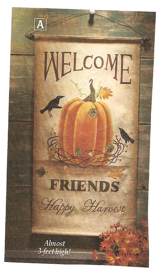 Image 1 of Harvest Welcome Canvas Wall Hanging