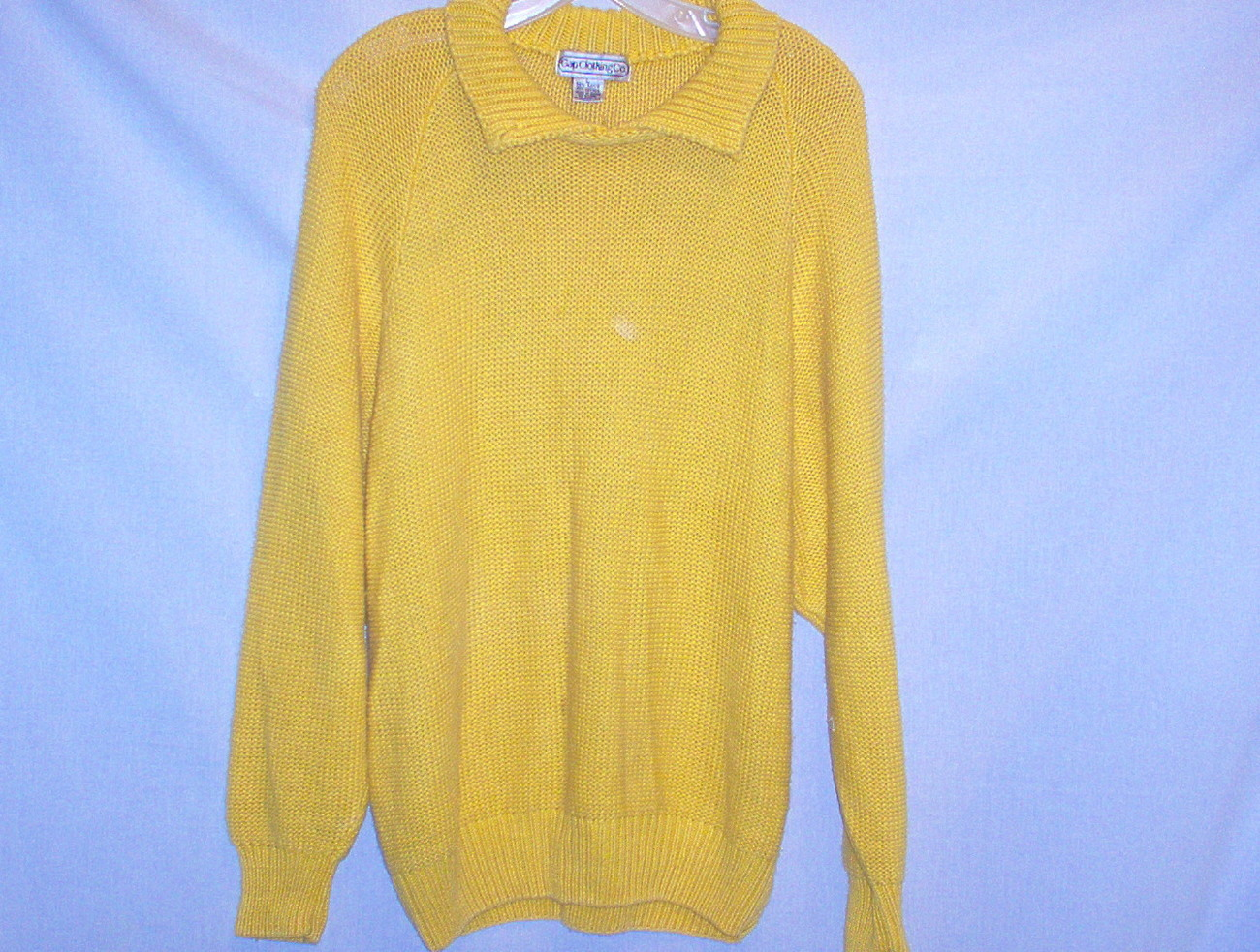 Gap Women  Vintage Bright Yellow Slip on Sweater   Size
